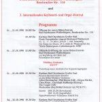 Neueröffnung Böhm-Zentrale Bad Oeynhausen und 3. Internationales Keyboard- und Orgel-Festival 23./24. Oktober 1998