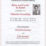 Eröffnung Böhm musiCreativ H. Reindl September 2000