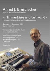 Konzert - Flimmerkiste und Leinwand - www.keyboardclub.at 14.09.2021